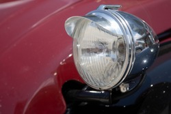Front light of an old timer car