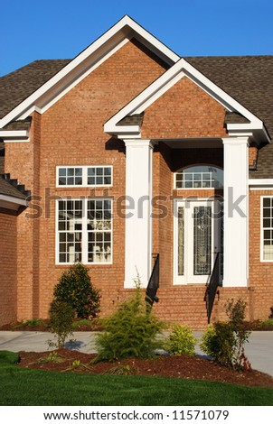 front of a new home
