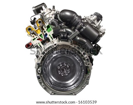 front of car engine isolated