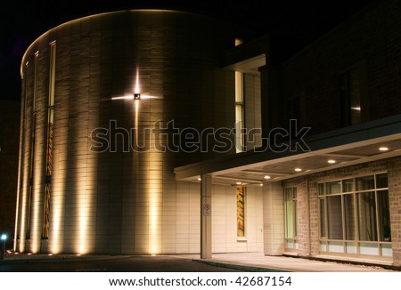 Front of Modern Church