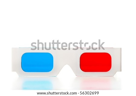 Front of of 3D glasses
