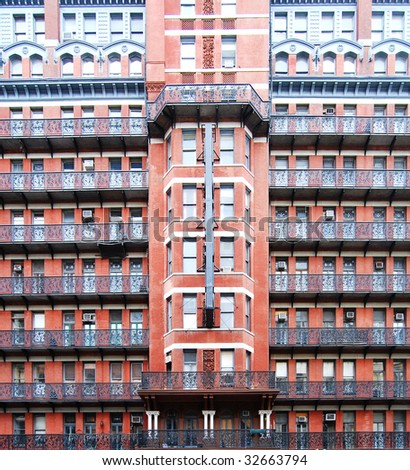 Front of the Chelsea Hotel in Manhattan, New York - stock photo