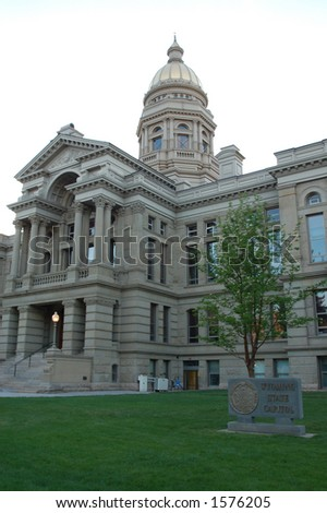 Front of the Wyoming State Capitol Building, Cheyenne