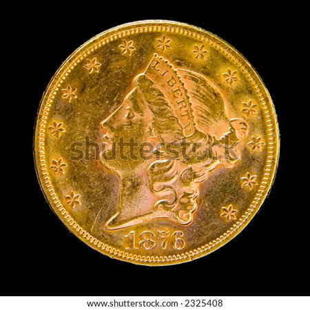 gold coins black background - photo #13