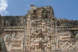 Front of Uxmal's ruins in Merida Yucatan.