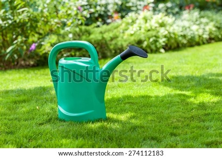 Front or Back Yard, Ornamental Garden, Watering Can.