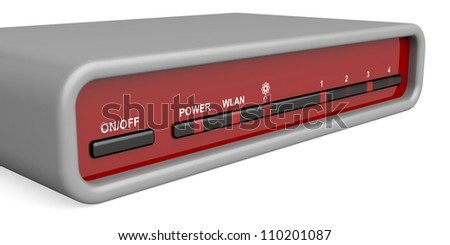 Front panel of wireless router