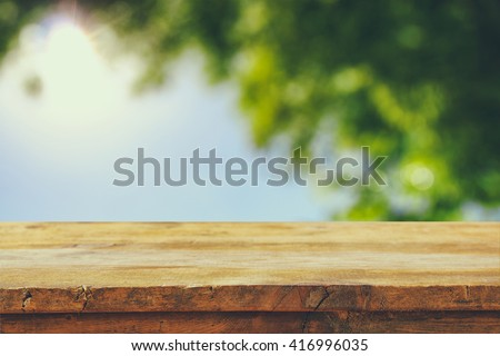 front rustic wood boards and...
