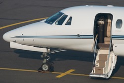Front section of a business aircraft in Eindhoven (Netherlands)