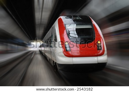Front Side Train with Blur Effect