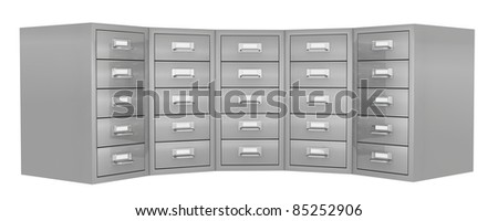 front view of a big file drawer (3d render)