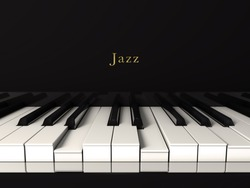 Front view of a jazz piano