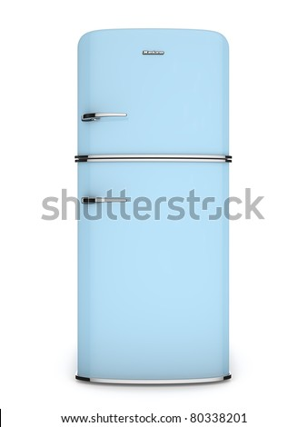 front view of a retro refrigerator