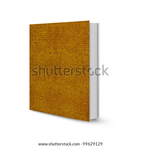 front view of Blank book cover brown mat.