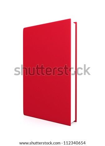 front view of Blank book cover red - 3d render