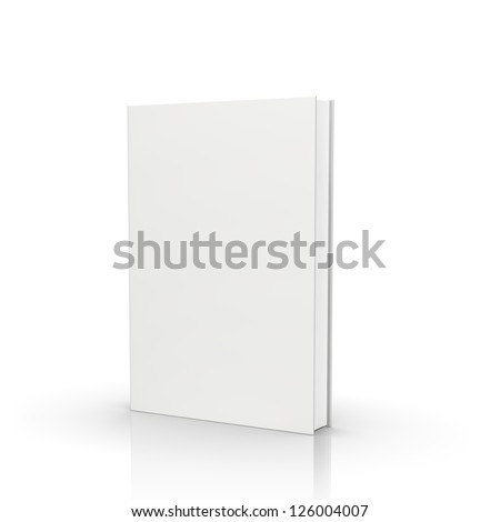 front view of blank book  on white background