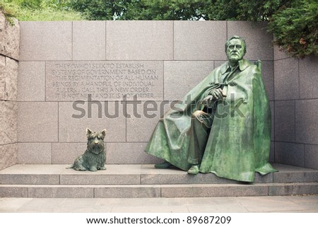 Front view of Franklin Delano Roosevelt National Memorial, Washington D.C. , USA