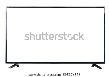 Shutterstock Front view of modern blank high definition LCD flat screen TV monitor, isolated on white background
