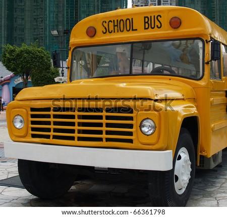 Front view of school bus