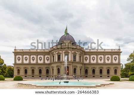 front view of swiss museum of...