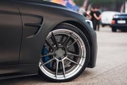 Front wheel of sport car