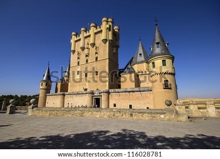 Frontal view of Alcazar of Segovia, Castilla-Leon, Spain