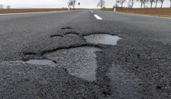 Frost damage to a road