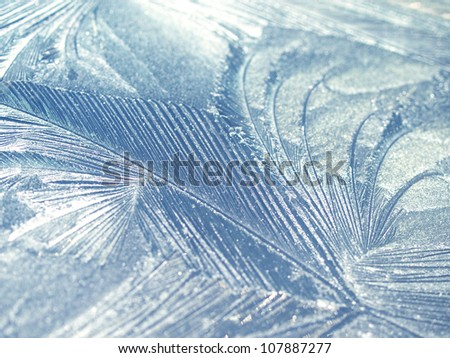 Frost natural pattern