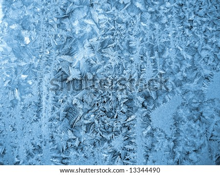Frost on winter window