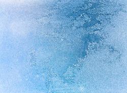 frost patterns on window