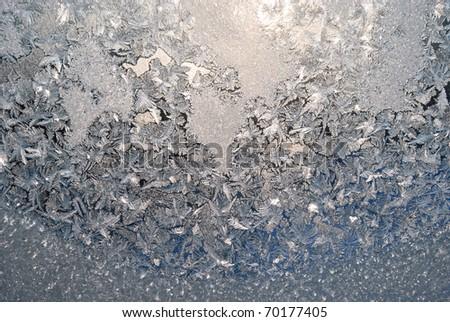 frost patterns on window fantasy looking