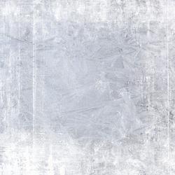 Frost patterns on window. Festive bokeh background