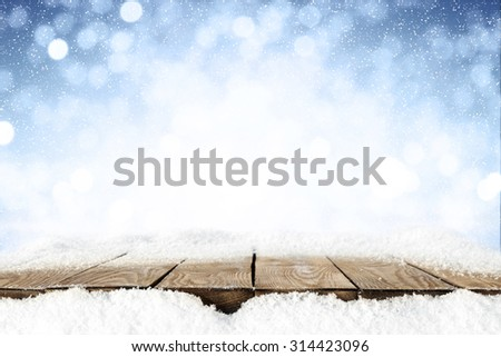 frost snow and desk space