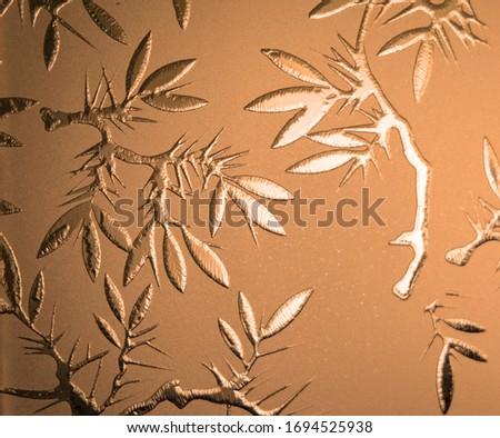 Frosted Glass Motives Close up Stok fotoğraf ©