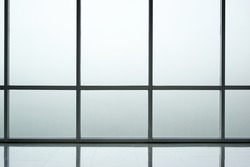 Frosted glass wall background interior of modern office building, contemporary architecture concept
