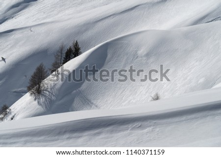 Frosted mountainside, Alps, Italy #1140371159