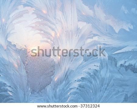 frosty natural pattern on glass