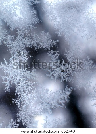 frosty snowflake background - stock photo