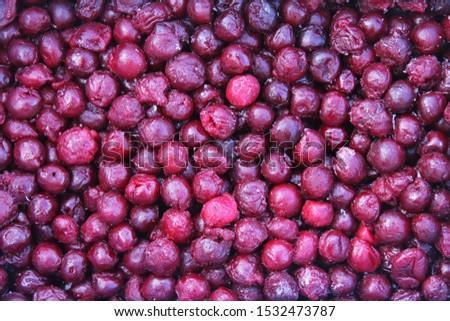Frozen dark pink cherries background #1532473787