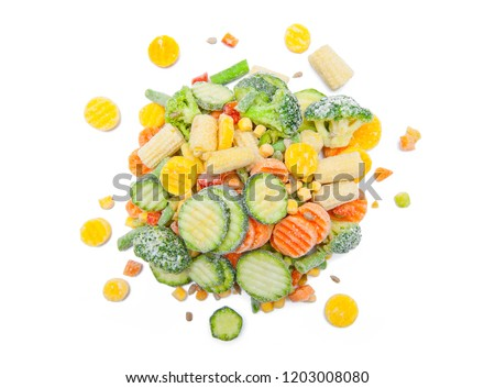 Frozen food isolated on white background #1203008080