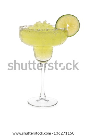 Frozen Margarita With Sweated Glass
