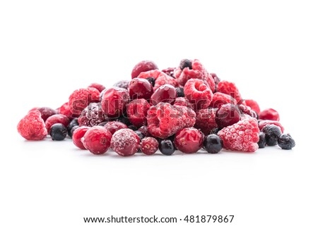 frozen mixed berry on white background #481879867