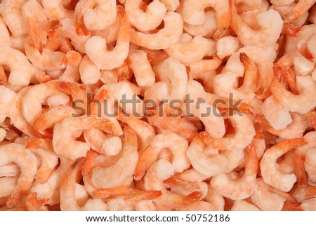 frozen shrimp on the stack for food backgrounds