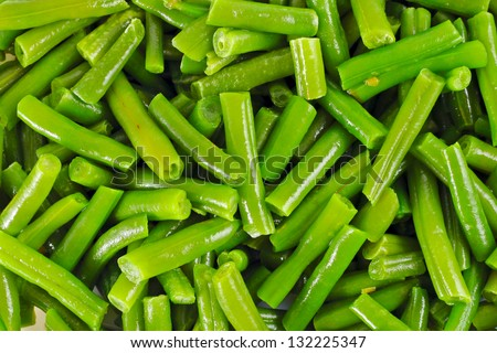 Frozen vegetable for cooking green beans texture