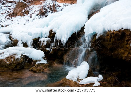 Frozen Waterfall #23703973