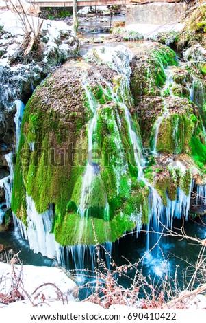Frozen waterfall #690410422