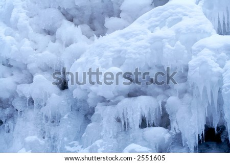 Frozen Waterfall from Altay Region, Western Siberia