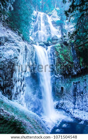 Frozen waterfall mountain vertical. Mountain waterfall frozen. Waterfall mountain vertical