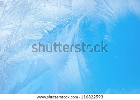 frozen window, background