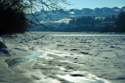 Frozen Yakima River